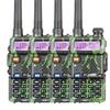 4pcs Baofeng UV 5R Two Way Radio Walkie Talkie 5W Power 1800mAh Battery 146 174MHZ 400