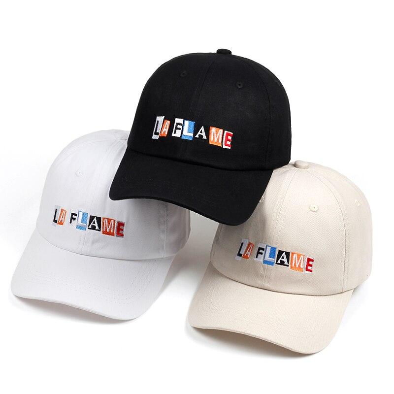 Travis Scott Cap La Flame Dad Hat 2018 new Hip Hop Rap Adjustable baseball cap men women cotton snapback golf cap hats bone бейсболк мужские