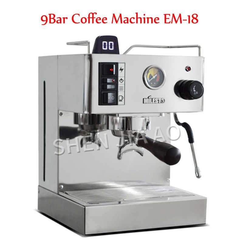 ماكينة قهوة إيطالية شبه أوتوماتيكية 9bar Em 18 ماكينة قهوة اسبريسو ماكينة قهوة مع مضخة احترافية للمنزل 220 فولت 950 وات آلة إعداد القهوة Aliexpress