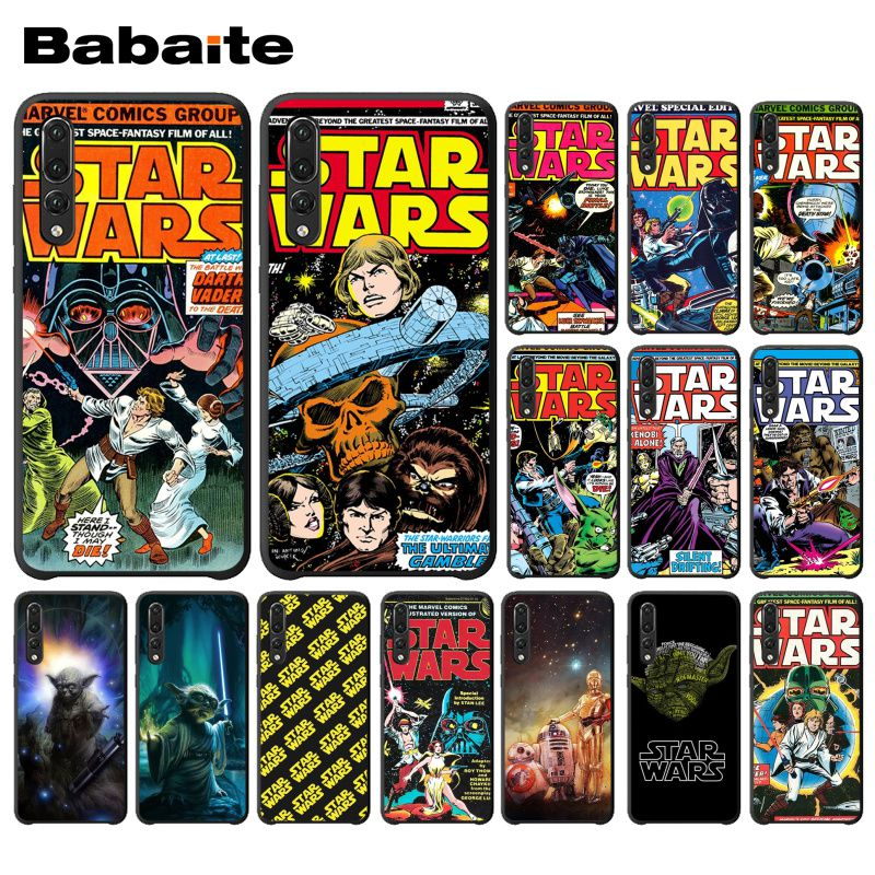 Babaite Star Wars Movie Comic Guys Holding BB-8 Phone Case for Huawei P20 Mate20 Lite Honor Play 8A 8C 7C 5A Y6 Y5 II Psmart image