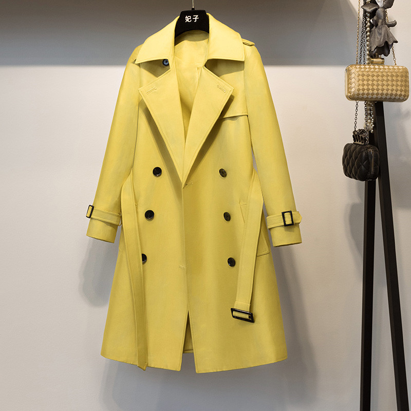 Long Casual Double Breasted  Coat