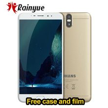 "UHANS MAX 2 Dual Real Cameras MTK6750T Octa Core 6.44"" FHD 4GB RAM 64GB ROM 13MP+2MP Front 4300mAh Fingerprint 4G Mobile Phone(China)"
