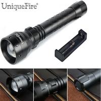 Unique UF 1502 XP E Zoomable led Taschenlampe 3 Modi Wiederaufladbare 18650 Taschenlampe + 18650 Ein Slot Ladegerät LED-Taschenlampen Licht & Beleuchtung -