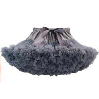 Teenage Girl Fluffy Pettiskirt Solid Layer Skirt Kids Stage Costumes Children Prom Dance Clothing Tulle Tutu