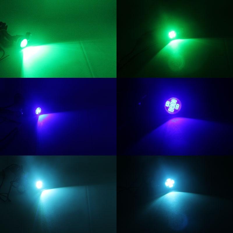 Bil LED-lampor 12V 23MM 6SMD LED Multicolor Eagle-ögon Ljus - Bilbelysning - Foto 6