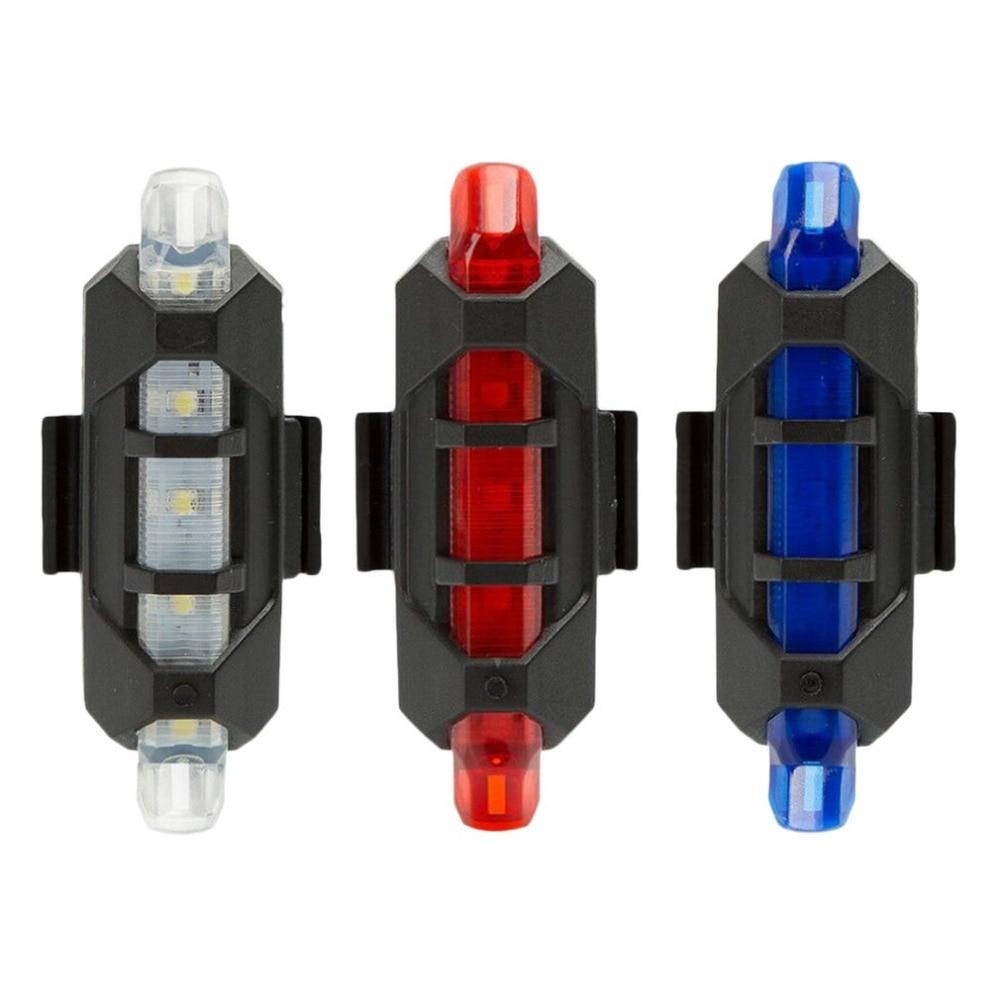 DropshippingUniversal Bicycle LED Signal Warning Light Flashlight Rear Tail Light USB Rechargeable Waterproof Safety Bike Light