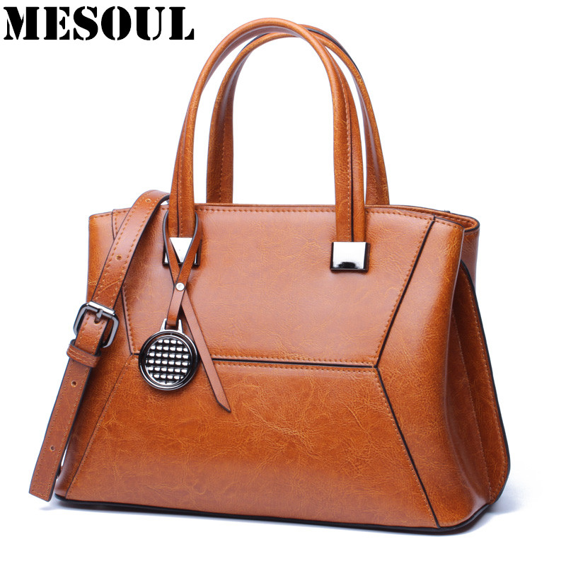 2017 Shell Shape Bag Oil Wax Cowhide Women Handbags Shoulder Bags For Female Designer Vintage Ladies Hand bag Famous Brand Tote seven skin brand women oil wax leather shoulder bags vintage designer handbags female big tote bag women s messenger bags 2017