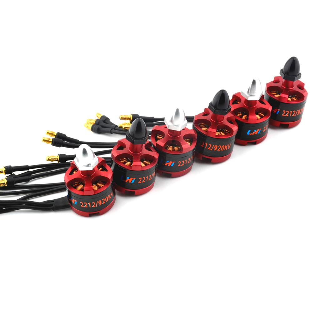 6 pcs LHI Brushless Motor 2212 920KV CW&CCW for F330 F450 F550 X525 Multirotor Quadcopter Free shipping drone dron quadrocopter 2pcs cw ccw 2212 920kv brushless motor for f330 f450 f550 x525 multicopter