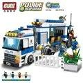 GUDI Polícia Polícia Móvel Montadas Luta Inserido Plástico Blocos de Construção de Brinquedos Para Crianças Brinquedos Educativos