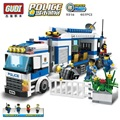 GUDI Police Mobile Police Assembled Fight Inserted Plastic Building Blocks Toys For Children Educational Toys