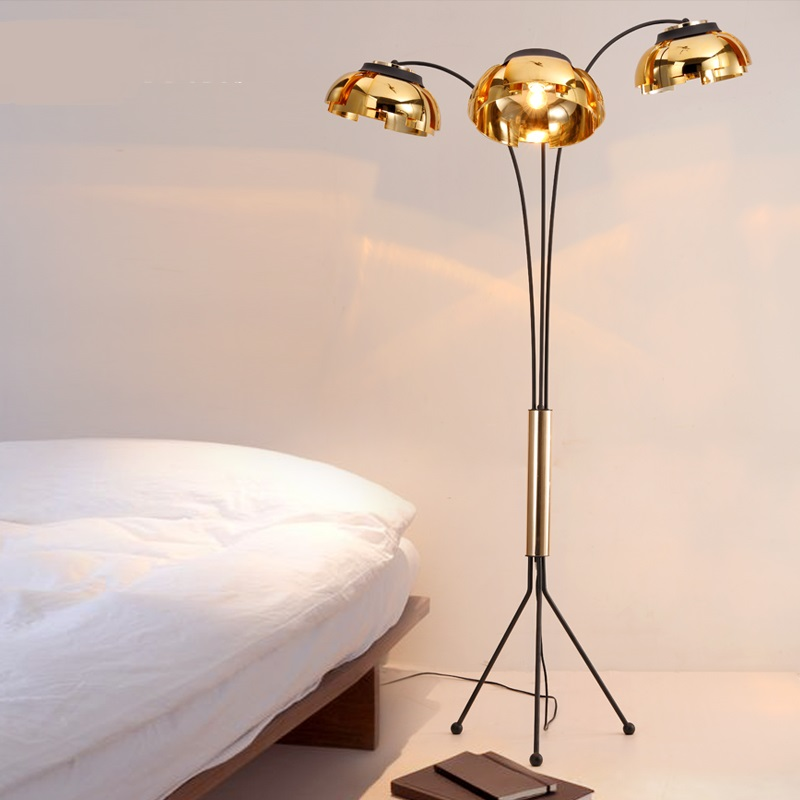 floor lamp simple gold black iron studio study bar bar coffee room bedroom creative living