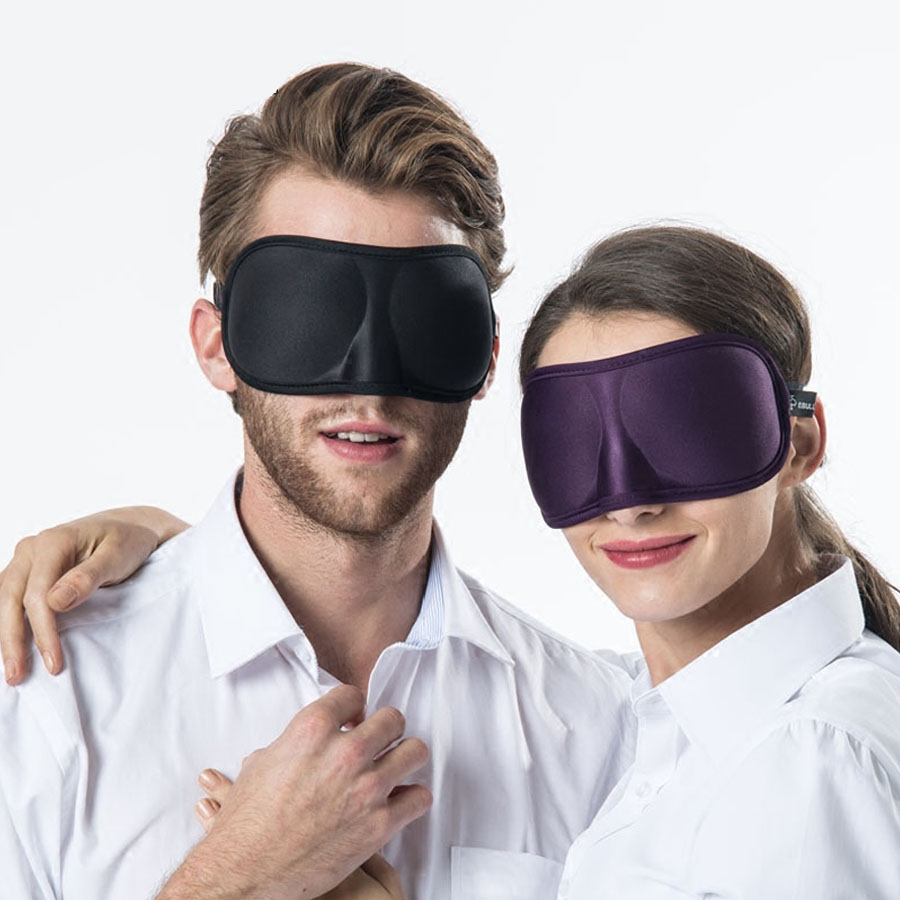 3D Ultra soft breathable fabric Eyeshade Sleeping Eye Mask Portable Travel Sleep Rest Aid Eye Mask