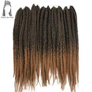 Desire for hair 10packs 24inch 110g 12strands per pack synthetic crochet braided box braids hair ombre burgundy color