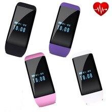 กันน้ำH Eart Rate Monitorสมาร์ทสร้อยข้อมือนาฬิกาDfit D21บลูทูธS Mart W Atchวงกำไลข้อมือSmartWatchสำหรับAndroid IOSโทรศัพท์