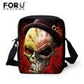 Cool Skull Impresión Messenger Bag for Men Casual Mini Bolso de Hombro Crossbody Bags Alta Muchachos de Los Niños Viajan Bolsa de Mensajero