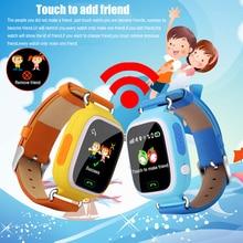2016 Nuevo GPS/GSM Tracker Reloj Para Niños Niños Inteligente 1.22 Reloj de la Pantalla táctil Con El Teléfono Android y IOS de Apoyo SOS GSM Anti perdido