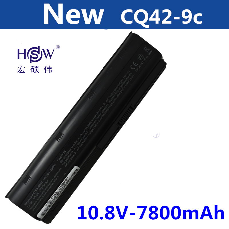 HSW 7800MAH Battery for HP Pavilion DM4 DV3 DV5 DV6 DV7 G32 G42 G62 G56 G72 for Presario CQ32 CQ42 CQ56 CQ62 CQ630 CQ72 MU06 free shipping 628186 001 for hp pavilion dv3 4000 dm4 cq32 g32 laptop motherboard hm55 100
