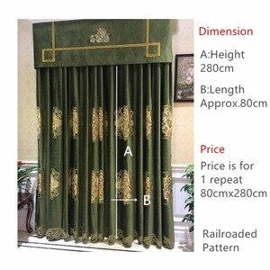 Image 2 - Lujosa tela bordada de terciopelo Euro para cortinas, paneles de tela para cortinas, tapicería, 280cm de ancho, removible con riel