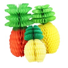 1pcs Big Pineapple Tissue Paper Honeycombs Creative Tropical Table  Centerpiece Supplies Wedding Bridal Shower Party Craft