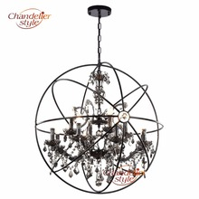 Buy crystal orb chandelier and get free shipping on aliexpress chandelierstyle retro orb crystal chandelier lighting smoky cristal hanging aloadofball Gallery