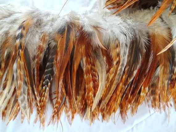 500 шт./лот 4-6 дюймов 10-15 см природа красный гризли Chinchill седло для петуха Hackle ремесло/Millinery перья