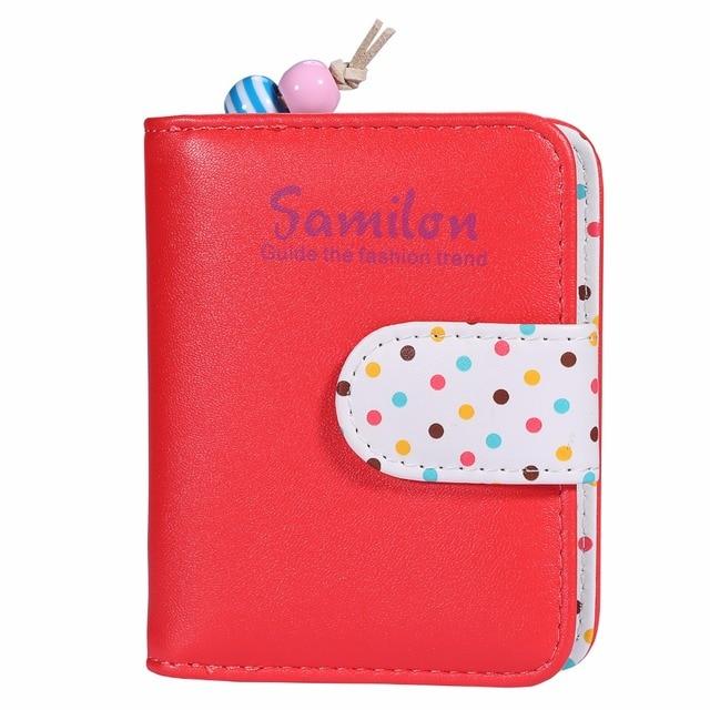 Women's Mini Wallet Zipper Purse Ladies Smal Clutch Bag Girl Cute PU Leather Short Coin Wallets For Women