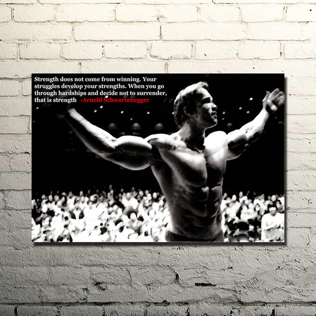 Arnold Schwarzenegger-Bodybuilding Motivational Quote Silk Poster Print 13x20 24x36inches Gym Room  Fitness Sports Picture 030