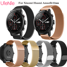 22mm Milanese Loop band For Samsung Gear S3 Frontier/Classic Watch Band Stainless Steel Band Bracelet for Huami 2S replace strap цена