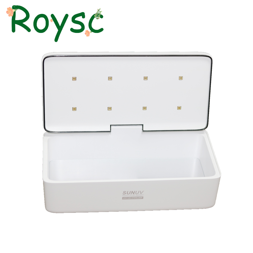 Original SUNUV UV Sterilizer Box Beauty Tools Sterilizer Storage Box S2 Portable Disinfection Box for Salon Nail Art Tools