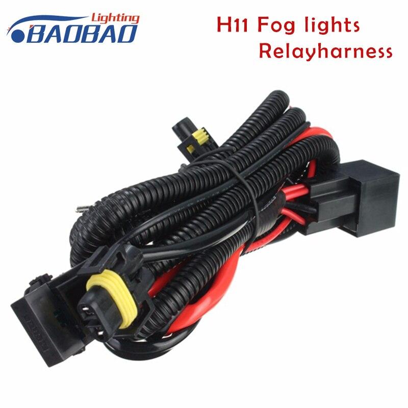 Baobao coche luces de niebla relé arnés H11 880 relé Alambres cableado 40a lámpara LED y lámpara halógena luces de niebla conector