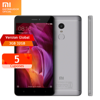 Global Version Original xiaomi redmi note4 mobile phone snapdragon 625 octa core 3GB RAM 32GB ROM