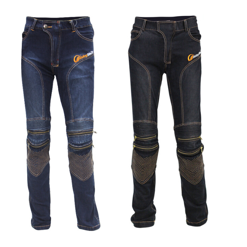 ФОТО Men's Motorbike Motocross Off Road Knee Protective Moto Jeans Trousers Pants Windproof Motorcycle Racing Casual