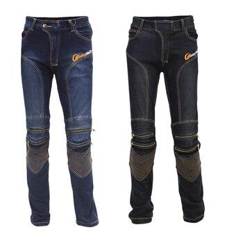 Men's Motorbike Motocross Off-Road Knee Protective Moto Jeans Trousers Pants Windproof Motorcycle Racing Jeans Casual Pants