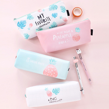 Stationery Korean Simple Small Clean Pencil Bag Girl Junior High School Students Box Creative Lovely Large Capacity