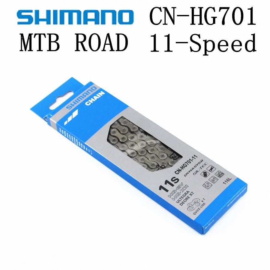 Shimano ultegra deore xt hg701 hg700 r8000 m8000 corrente de 11 velocidades bicicleta de montanha corrente hg6800 CN-HG701 mtb bicicleta de estrada correntes