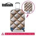 Dispalang geométrica tampa mala impressão 3d protetor melhor acessórios de viagem mulheres bagagem sacos de viagem bagagem capa protetora