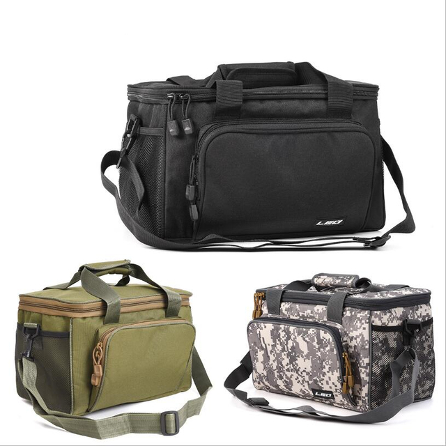 Best Price Fishing Bag Fishing Reel Lure Multifunctional Storage Bag Fishing Tackle Pesca 3 Color 600D Canvas Outdoor Waist Shoulder Bags
