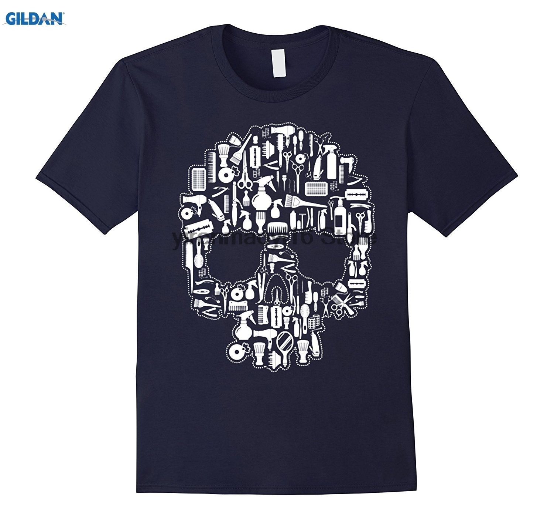 GILDAN 100% cotton O-neck printed T-shirt Hair Stylist Sugar Skull T Shirt ...
