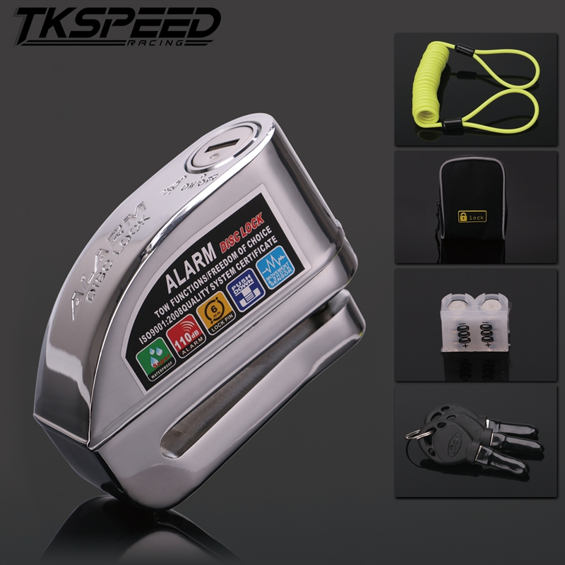 Motorcycle Waterproof Alarm Lock Bike Steelmate Disc Lock Warning Security Anti-theft Protection Brake Rotor Padlock Alarma Moto