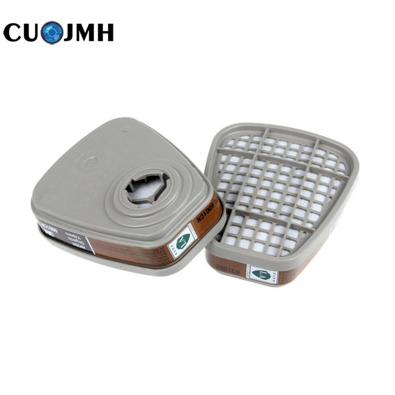 2 Pcs 6001cn Mask Filter Box 6200/7502 Mask Accessories Activated Carbon Filter Plastic Dust-proof Safety Protection Strainer 16 2822 90c[