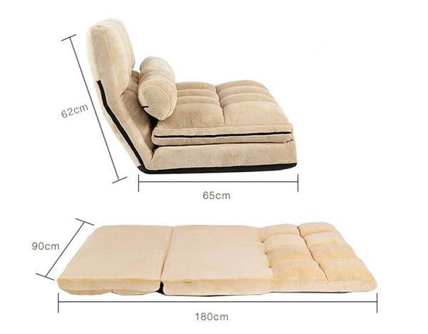 Convertible Futon Flip Chair Sleeper 2
