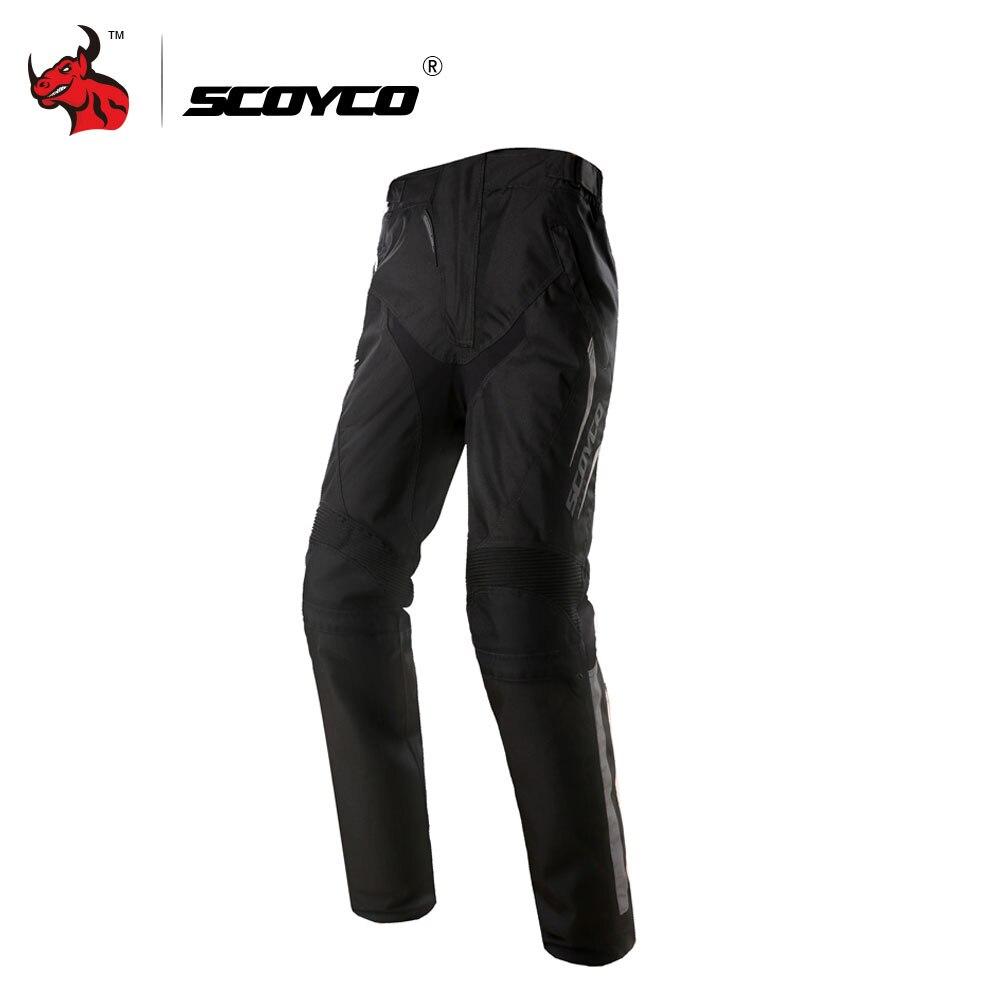 SCOYCO Pantalon Moto Men's Motocross Pants Off-Road Racing Pants Casual Pants With CE Kneepad Moto Pants Black M-XXXL moto m xt1663 gold