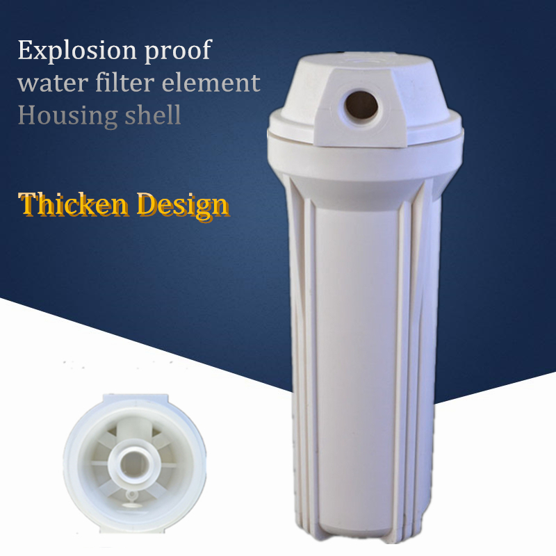 1/4 Connect 10 Inch White pre-purifier Water Filter Bottle Thicken Design explosion proof water filter element Housing shell eyki h5018 high quality leak proof bottle w filter strap gray 400ml