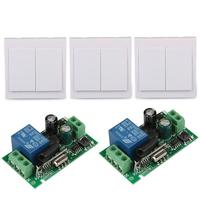 86 Wall Panel Switch 433MHz 1 Channel Remote Control Switch Relay Receiver 3pcs 433MHz Wireless 2