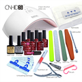 KCE in 24W Professional UV LED Lamp  7Color Top Coat +Base Coat  10ml  Nail  Gel soak off Gel Nail  Polish Other Nail Tools