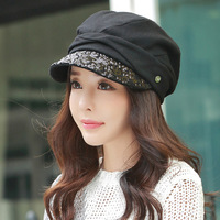 Fashion sequined berets