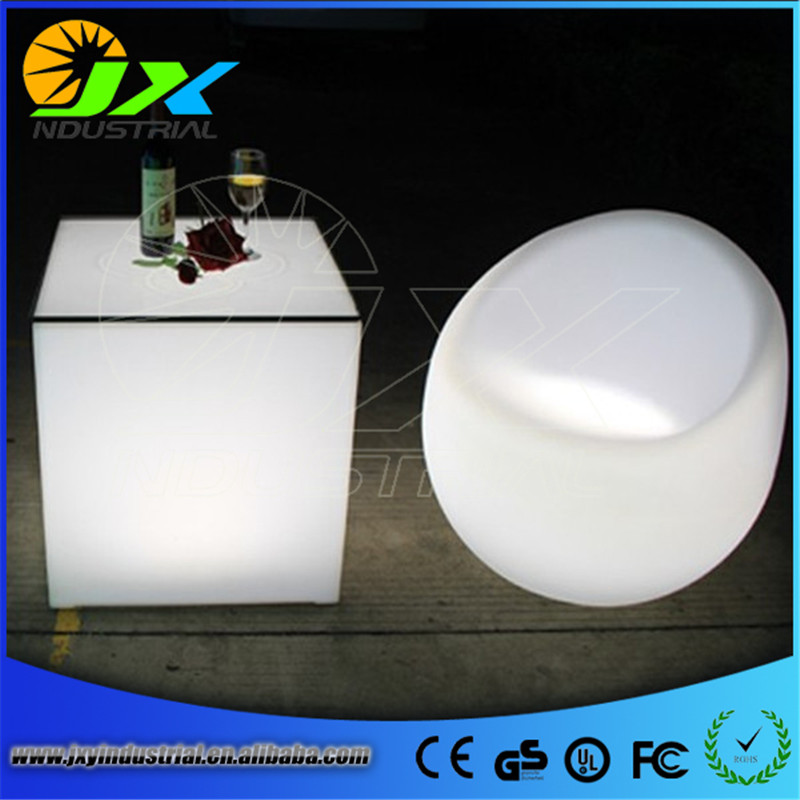 led bar stool PE chairs ip65 outdoor wireless control