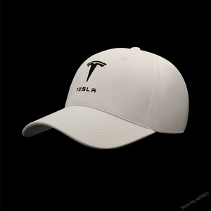 New arrive style for 4 seasons solid colour embroidery Tesla baseball cap cotton cap hats adjustable car fans Caps(China)