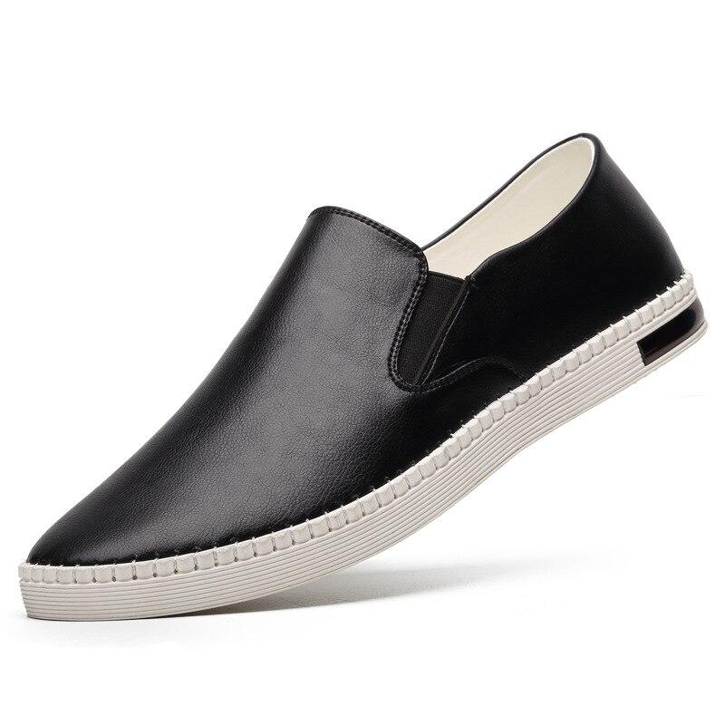 Из натуральной коровьей кожи белые туфли Для мужчин s Модные Лоферы мокасины ручной работы из мягкой кожи без шнуровки на Для мужчин лодка о...