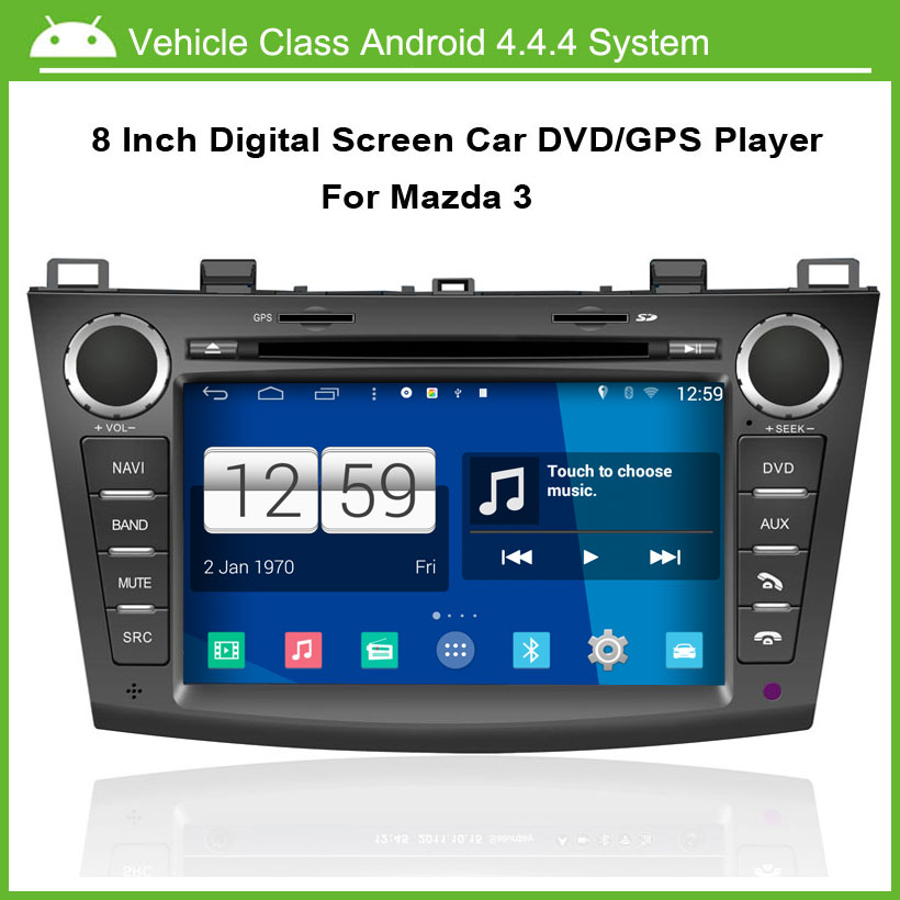 Android Car DVD player FOR Mazda 3 GPS Navigation,Speed 3G, enjoy the built-in WiFi,1024*600 high resolution.